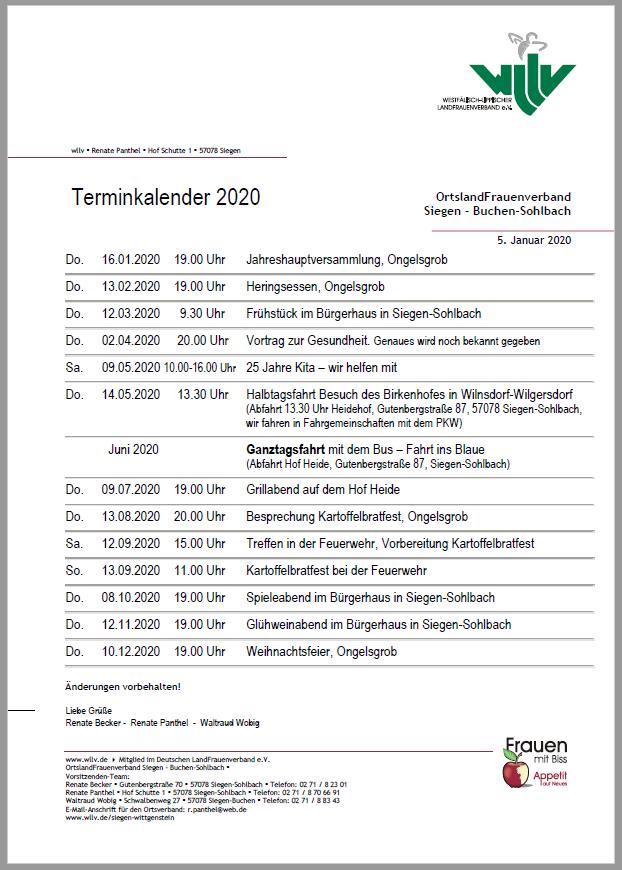 Landfrauen_Termine_2020