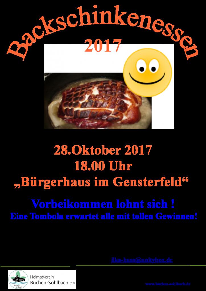 Plakat-Backschinkenessen-28.10.2017